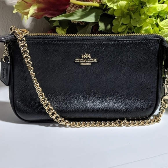 Coach Small Shoulder Bag - Black Leather